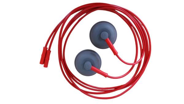 single vacuum lead red