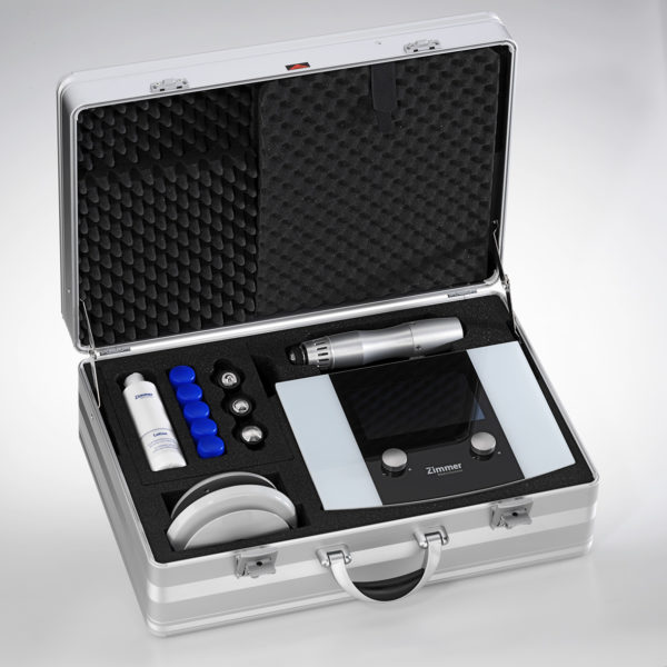 Zimmer En Puls shockwave therapy unit in aluminium case