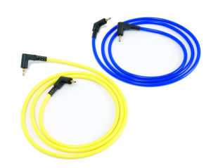 Set of 4 Suction leads (2 yellow, 2 blue)