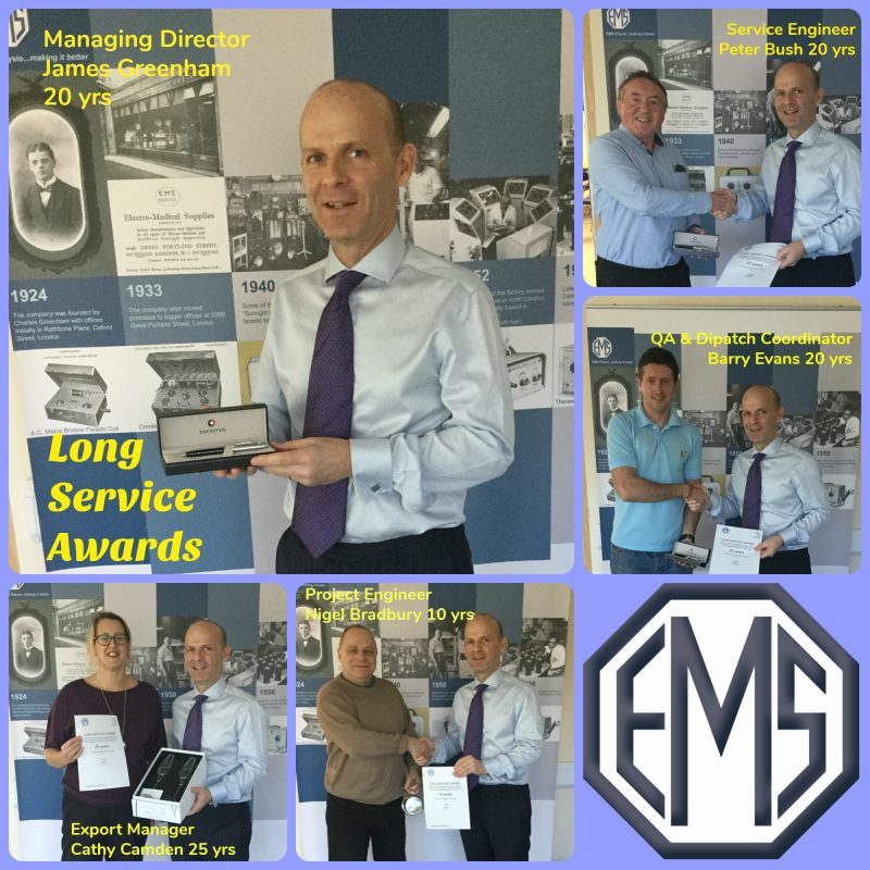 EMS Physio Long Service Awards 2017