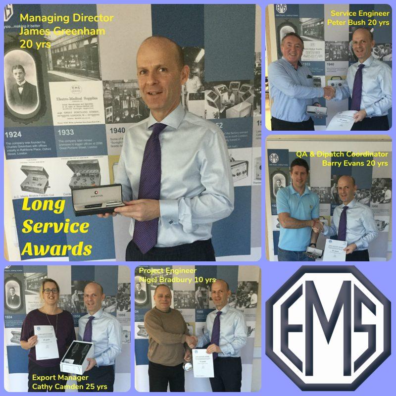 EMS Physio Long Service Awards 2017