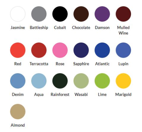 EMS PHYSIO LTD upholstery colours